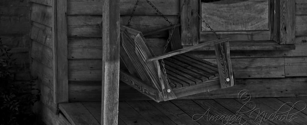 A porch swing.
